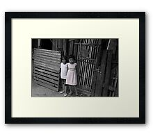MA-A road Framed Print
