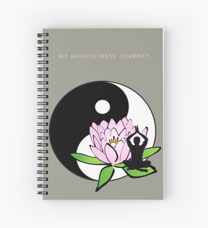 7 DAY'S OF SUMMER-YOGA ZEN RANGE-MINDFULNESS NOTEBOOK GREY Spiral Notebook