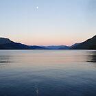 Moon over Lake Wakatipu by Louise Crutchfield