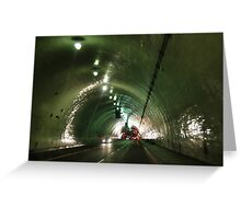Tunnelling Under Los Angeles Greeting Card