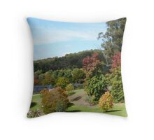 'Sloping lawns and Autumn colour!' Mount Lofty Botanic Gardens, Adelaide. S.A. Throw Pillow