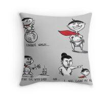 Vanquisher of Villians Throw Pillow