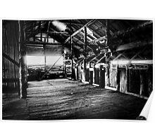 Mungo Shearing Shed interior 2 Poster