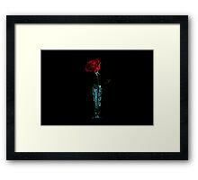 Piece Of Rose Framed Print