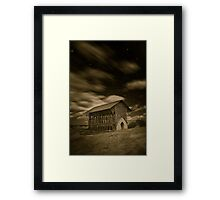 Shrine at Night (simulated) Framed Print