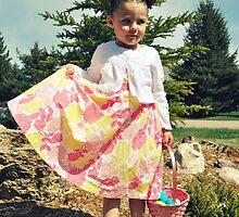 Girl Easter Egg Hunting by TiffanieH