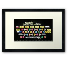 Addictive Communication Framed Print