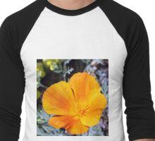 California Poppy Power Men's Baseball ¾ T-Shirt