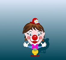 Funny clown with big smile by dedoma