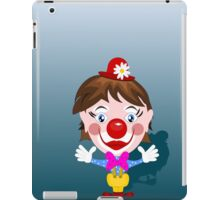 Funny clown with big smile iPad Case/Skin