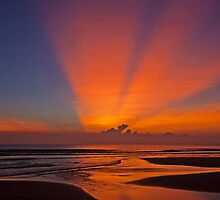 Sunrise On The South China Sea. by Howard  Boyd