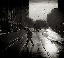Melbourne  on Flinders by Andrew Wilson