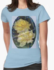 Yellow roses emblem  Womens Fitted T-Shirt