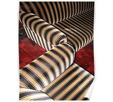 Zebra art nouveau couch Poster