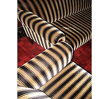 Zebra art nouveau couch Photographic Print
