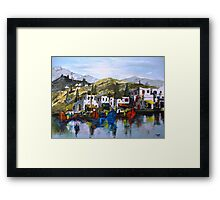 Greek island Framed Print