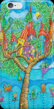 Tree House - Fantasy Word by Malerin Sonja Mengkowski