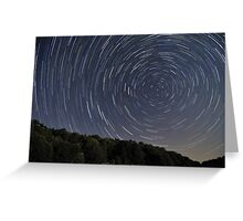 Campitelli Startrails, Abruzzo, Italy Greeting Card