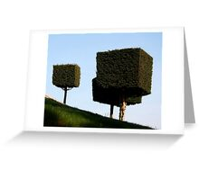 Disney Topiary 'Square Trees' Greeting Card