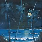 Palms in Moolight. by Terry-ann