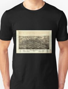 Panoramic Maps Bowling Green Ohio 1888 Unisex T-Shirt