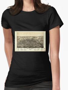 Panoramic Maps Bowling Green Ohio 1888 Womens Fitted T-Shirt