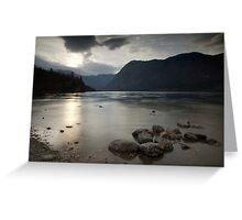 Lake Bohinj at dusk Greeting Card