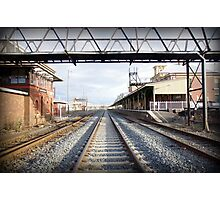 Albury train station vanishing point Photographic Print