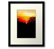 Red sunset vertical Framed Print
