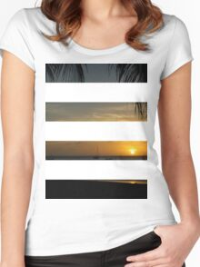 4 Strip Sunset Women's Fitted Scoop T-Shirt
