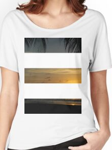 3 Strip Sunset Women's Relaxed Fit T-Shirt