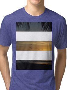 3 Strip Sunset Tri-blend T-Shirt