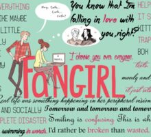 Fangirl + Quotes Sticker