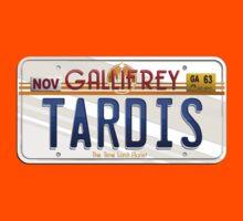 TARDIS License Plate Kids Tee