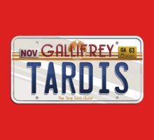TARDIS License Plate Kids Tee