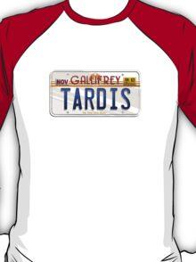 TARDIS License Plate T-Shirt
