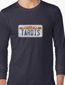 TARDIS License Plate Long Sleeve T-Shirt