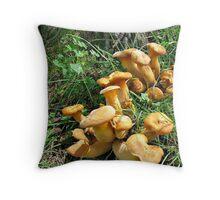 Jack O' Lantern on Oak Throw Pillow
