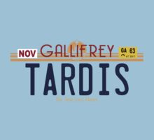 TARDIS License Plate 2 One Piece - Short Sleeve