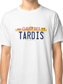TARDIS License Plate 2 Classic T-Shirt