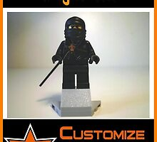 Customize My Minifig Collector Card 20 - Custom LEGO® 'Black Ninja' by Chillee