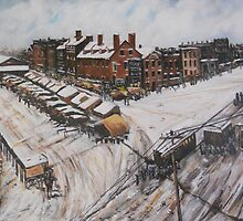 Main St at Market Square, Norfolk, VA 1800 from Black Plate by Jsimone