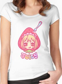 Werepop - Juicy strawberry fruit girl Women's Fitted Scoop T-Shirt