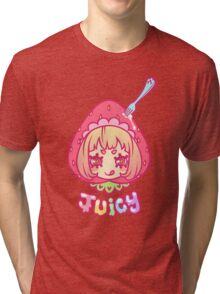 Werepop - Juicy strawberry fruit girl Tri-blend T-Shirt