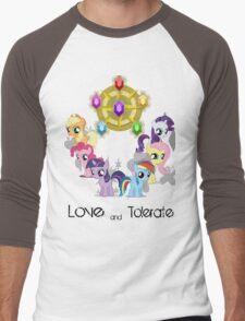 The Mane 6 - Love & Tolerate Men's Baseball ¾ T-Shirt