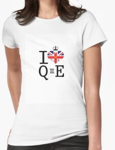I heart Queen Elizabeth  Womens Fitted T-Shirt