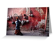 Marrakech The Red Greeting Card