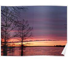 Sunset at Jasper, TX Poster