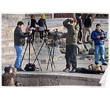 Photographers at work-Photo taken Poster