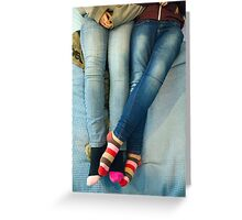 Lesbians And Colourful Socks Greeting Card